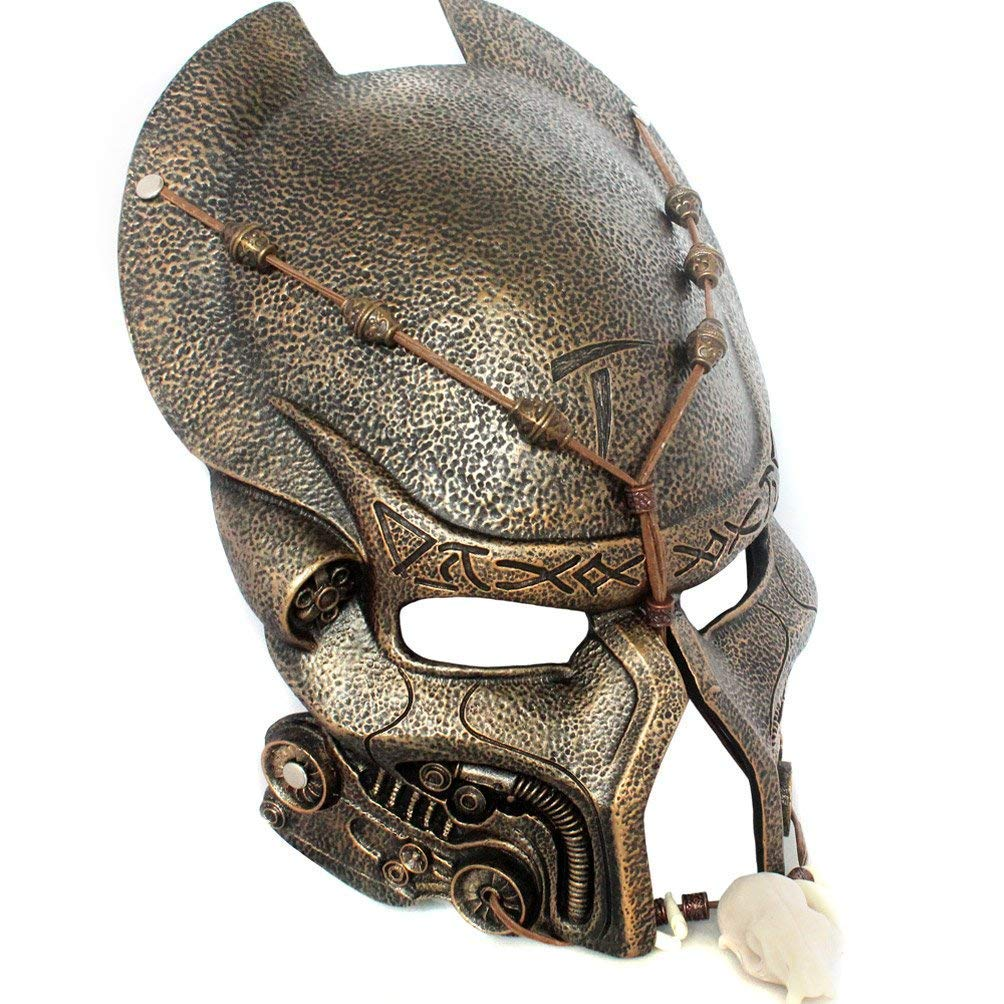 Halloween Mascarada Replica Alien Warrior Película Traje Máscara ...