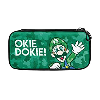 Nintendo Switch Camo Super Mario Bros Luigi Slim Travel Case for Console and Games by PDP, 500-105