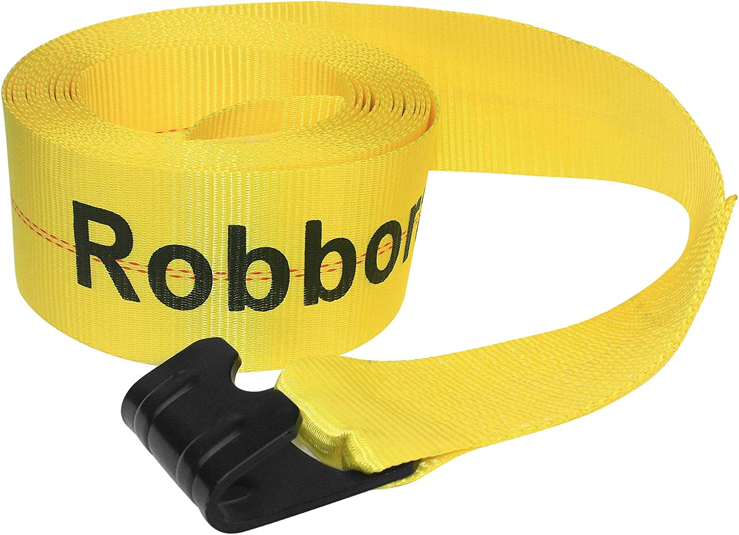 Trailers Robbor 4x30 Winch Strap with Flat Hook 10PK 16500lbs Heavy Duty Polyester Tie Down Cargo Strap for Flatbeds and Trucks