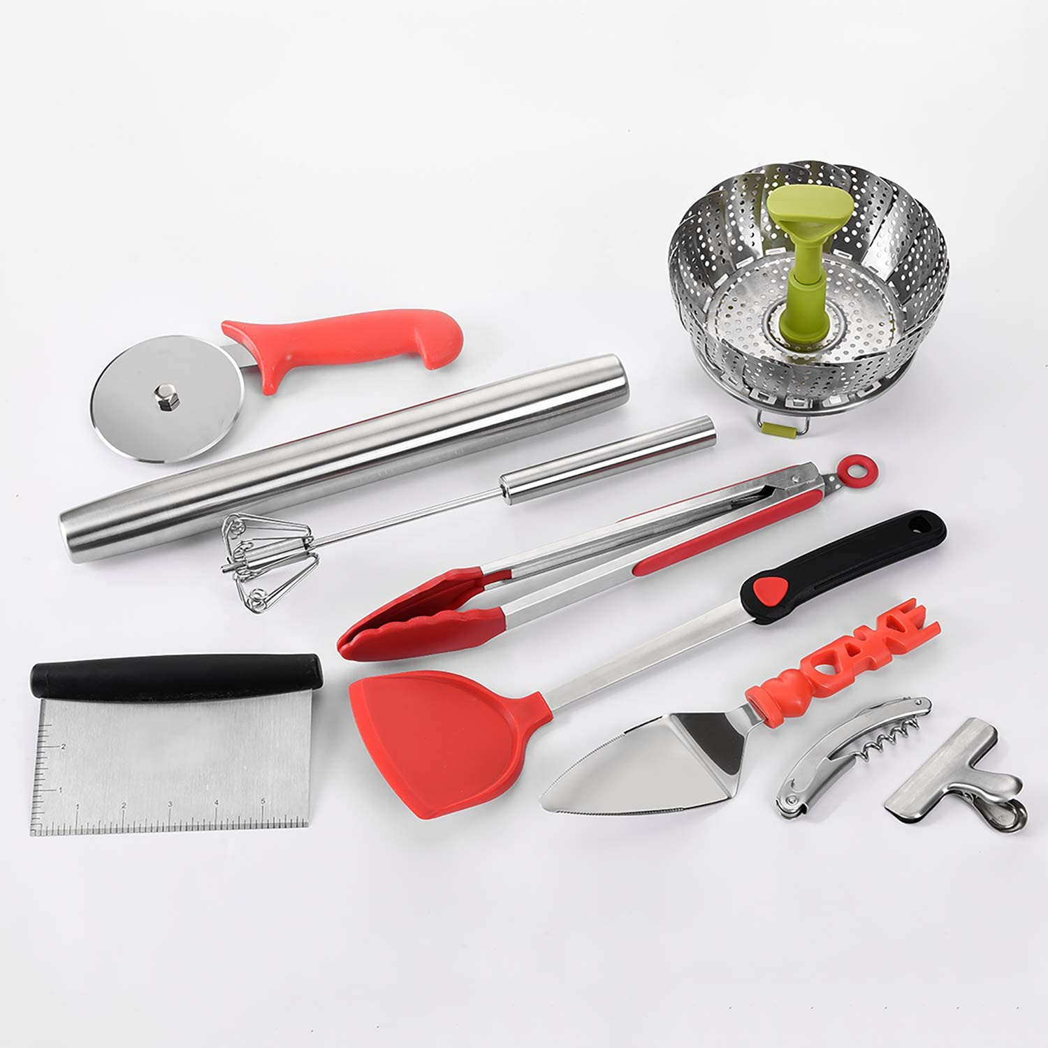 Kitchen Utensils Cooking Tools/of 10 Piece Stainless Steel Kitchen Utensil Set/,Cooking Utensils FDA Approved and BPA Free