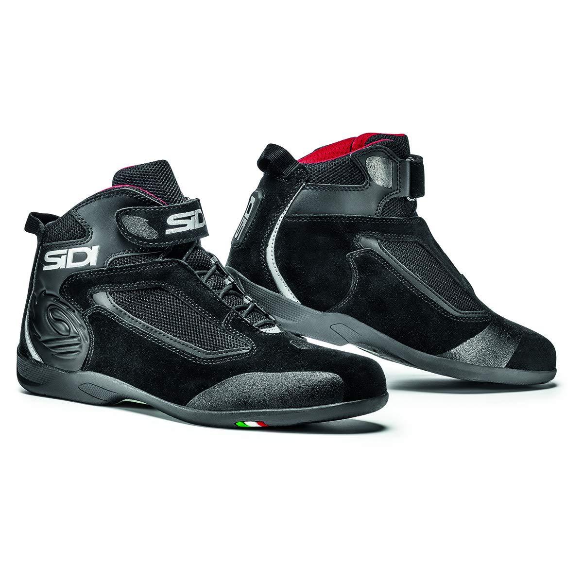 Sidi Gas Motorcycle Riding Shoe Black US10/EU44 (More Size Options)