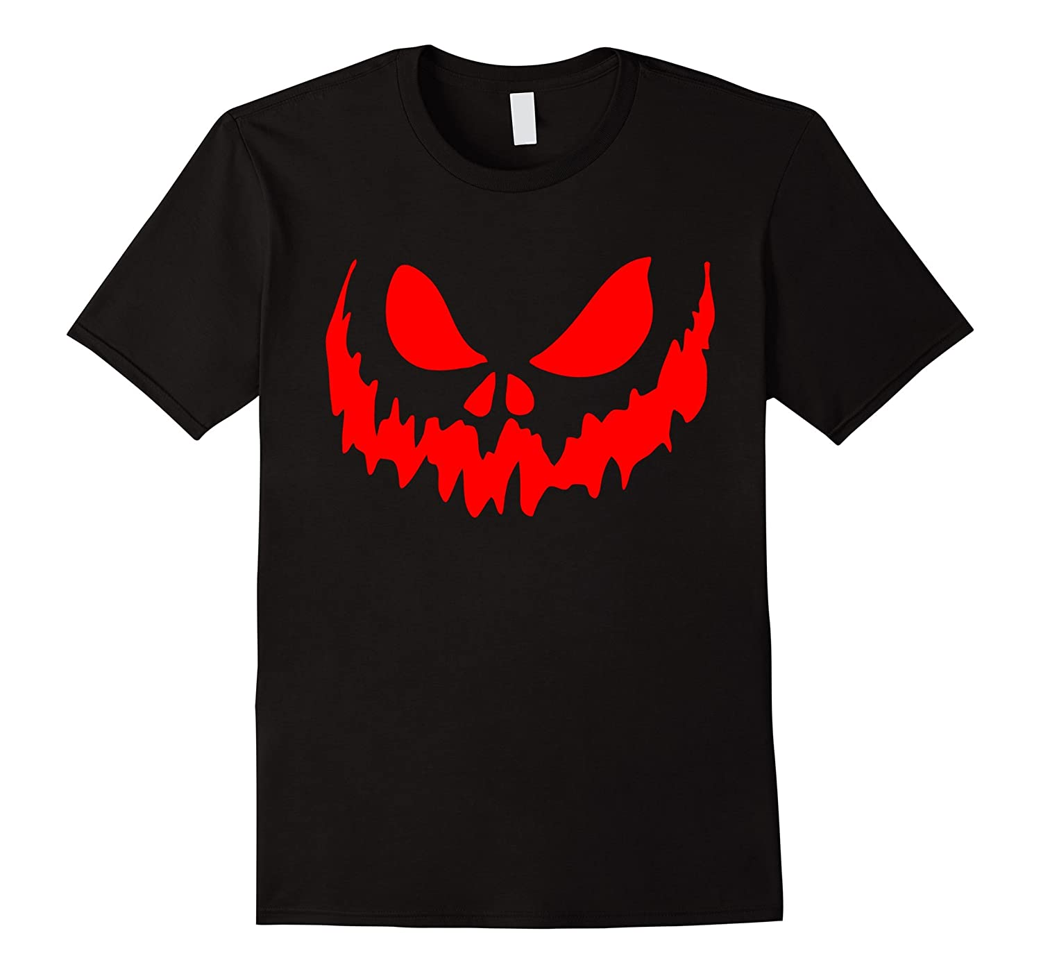 Scary Face Halloween Tshirt | Glow in the Dark Effect Print-FL