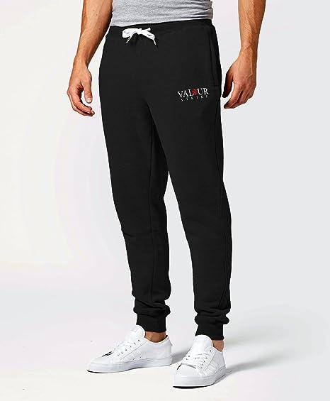 Men/'s Stretch Sports Pants Tracksuit Sweatpants Plain Jogging Cuff Trousers UK