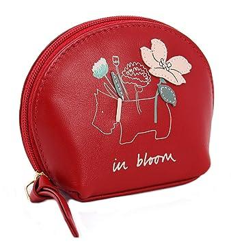 Radley - Monedero (Piel), diseño Floral, Color Rojo: Amazon ...