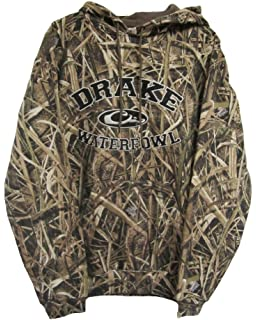 90040dedfd924 Drake Waterfowl Embroidered Hoodie Collegiate Style Mossy Oak Blades Camo  Draw String Hoodie Ribbed Cuffs