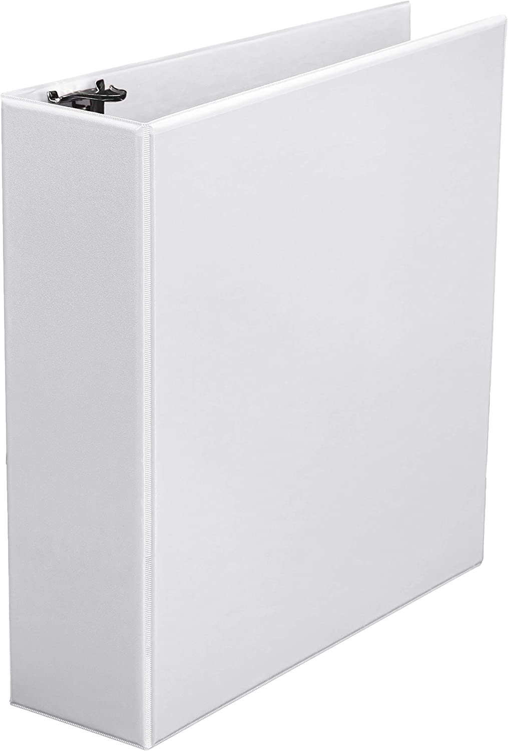 AmazonBasics 3-Inch Round Ring Binder, White, View, 4-Pack