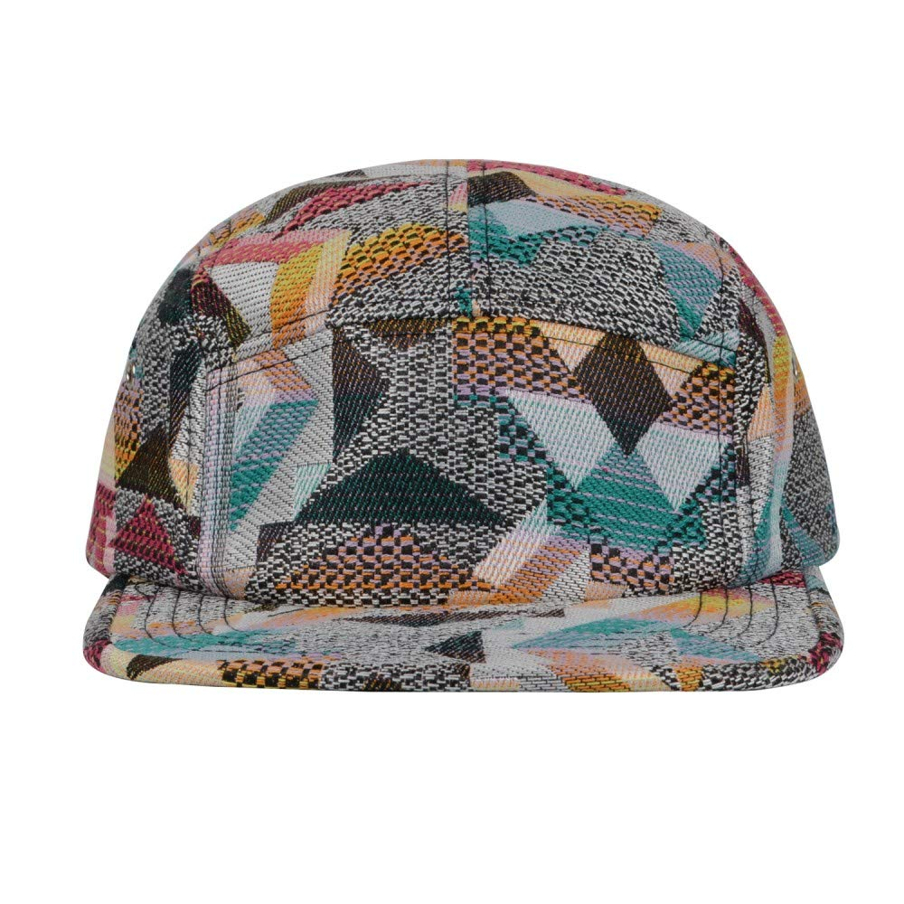 1dd3a28a6eb0c GP Accessories Fair Isle Pattern Multi Color Stripe Salty 5 Panel Hat Large  Black  Amazon.ca  Clothing   Accessories