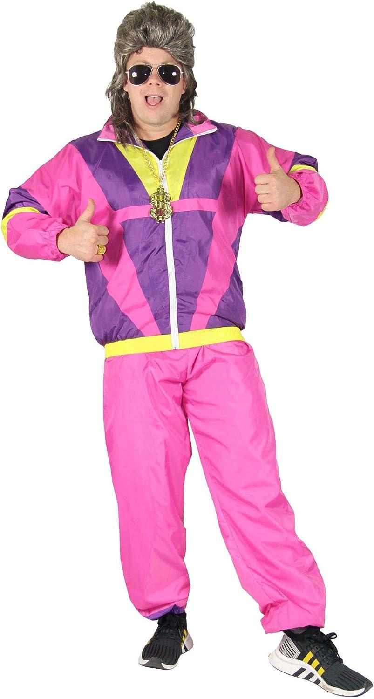 Rosa 80s Disfraz para chándal de Adulto Assi Traje Assi tamaño S ...