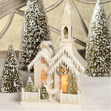 Bethany Lowe Christmas Ornaments.Bethany Lowe Christmas Church In The Woods Large Lc3573