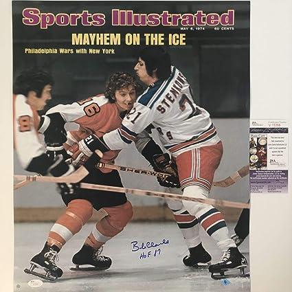 Autographed Signed Bobby Bob Clarke Hof 87 Si Philadelphia Flyers