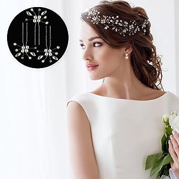 Pearl Beaded Headdress Diamante Bridal Gown Hair Comb Crystal Wedding Headpieces