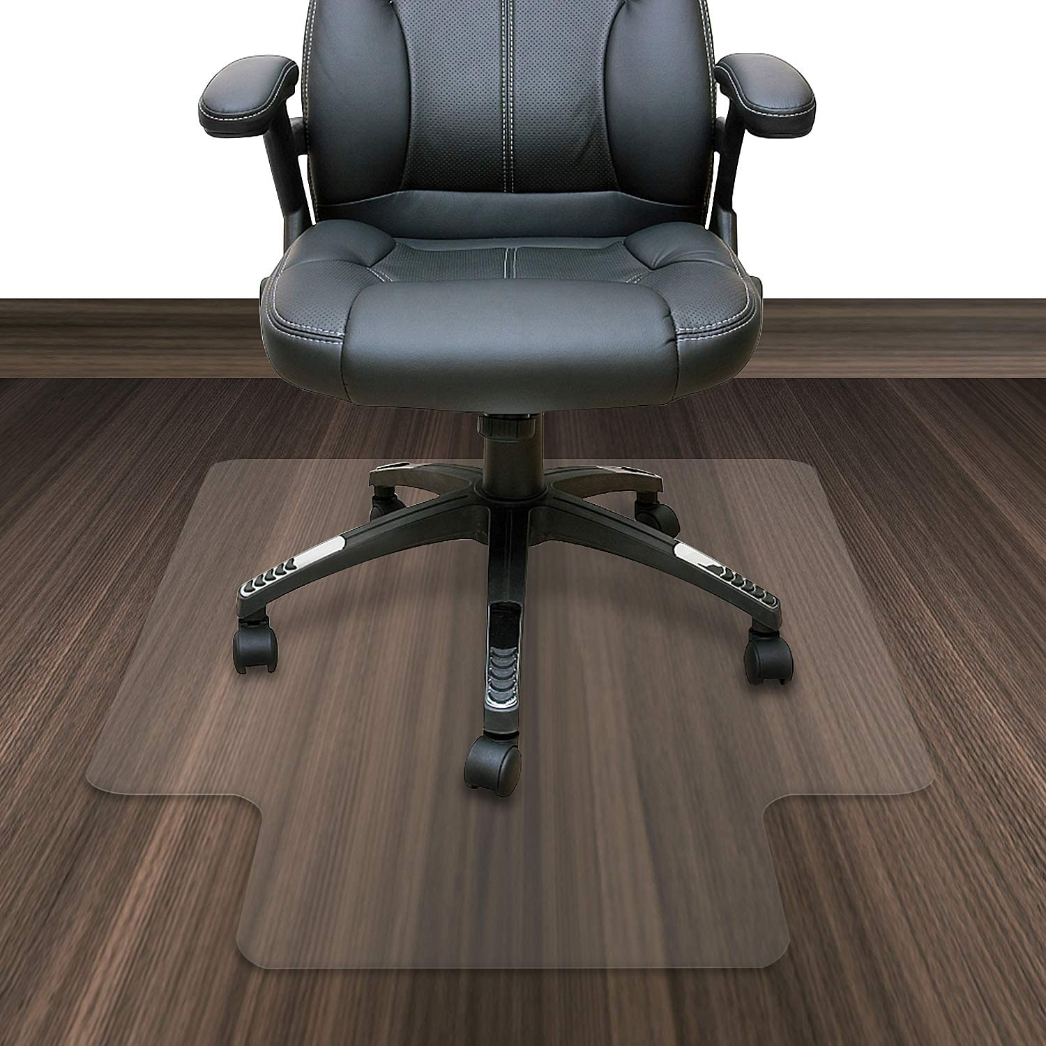 Azadx Transparent Chair Mat, Computer Chair Hardwood Floor Protector for Office and Home, 36