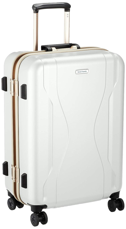 [ワールドトラベラー] スーツケース 日本製 コヴァーラム ベアリング入り双輪キャスター 58L 58 cm 4.6kg B07S48VSH3 ホワイト