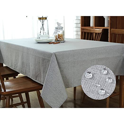 Tablecloth Waterproof  G.G.G. Multi Purpose Simple Tablecloth Non Slip  Polyester Cotton Towel Cloth
