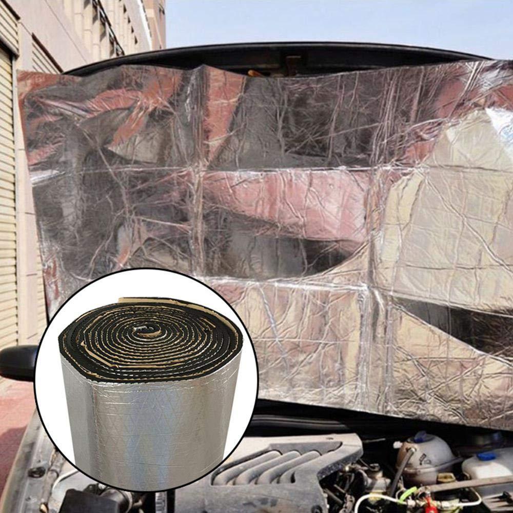 Selbstklebende Auto D/ämmung Anti Dr/öhn D/ämmmatte Silber, 80 In X 20 In 5 MM Feuerfeste Aluminiumfolie D/ämmmatte Motorhaube Schallschutzmatte Baiwka Auto Schallschutz