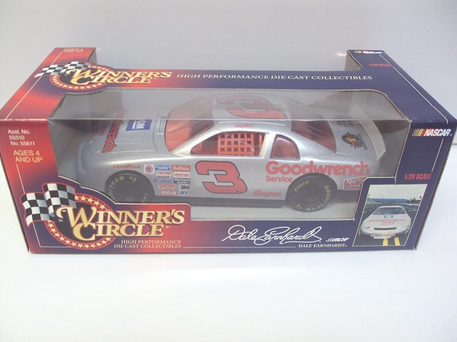1995 Dale Earnhardt Sr # 3 GM Goodwrench The Winston選択シルバーAnniversary Winston 1 / 24 1 : 24スケールWinners Circle B01CJ76KNM