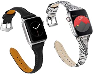 Best Price for 2 Leather bands for apple watch 38mm 40mm