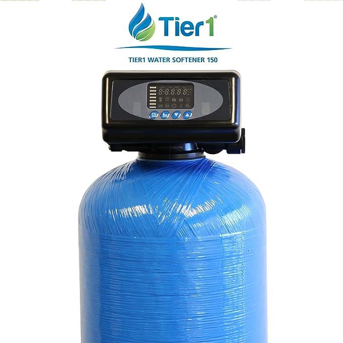 Tier1 48.000 grano descalcificador de agua digital de alta eficiencia para agua dura: Amazon.es: Bricolaje y herramientas