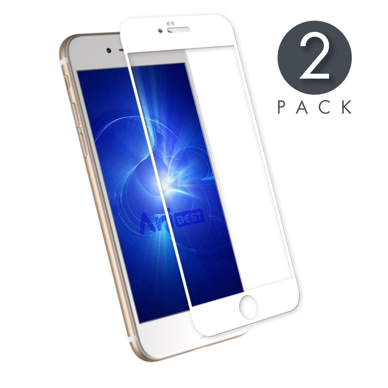 2 Unidades iPhone 7 Plus Protector de Pantalla Aribest iPhone 7 Plus Protector de Pantalla Cristal Templado para iPhone 7 Plus 5.5 3D 9H Dureza 0.33mm 3D edge to edge