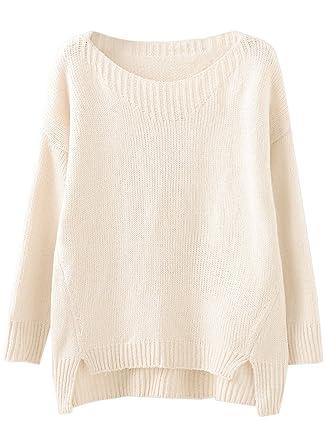 b8eeb3facac2 Futurino Women s Classic Long Sleeve Loose Fit Pullover Knit Sweater ...