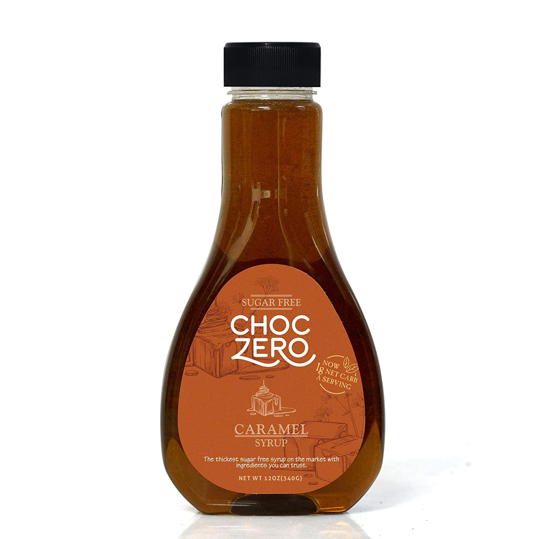 ChocZero's Caramel Sugar-Free Syrup. Low Carb (1 Gram Net Carb), No Sugar, No Preservatives, No Sugar Alcohols