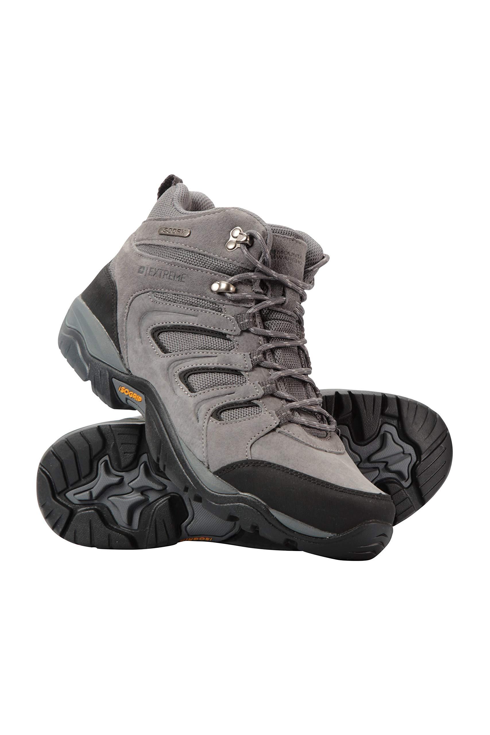 Mountain Warehouse Aspect Mens IsoGrip Boots -Waterproof Hiking Shoes Dark Grey 9 M US Men
