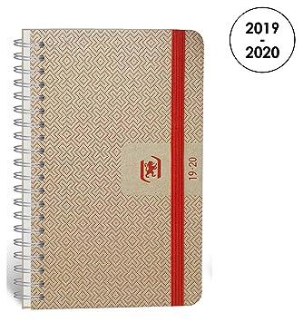 Oxford Nude agenda escolar (años 2017 – 2018 1 día por página 352 páginas 12 x 18 cm Coral