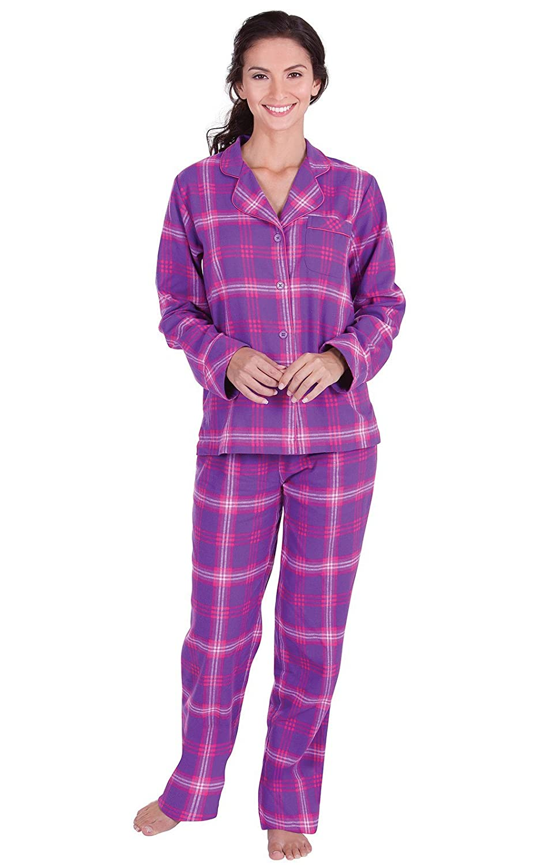cda07a2f4727 PajamaGram Womens Pajama Sets Flannel - Cozy Ladies Pajamas at Amazon  Women s Clothing store