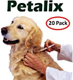 Petalix Rfid Set Of 20 X Animal Pet Microchip Identification Tag veterinarian Syringe with Glass Tags 2.12mm 12mm - Registered Numbers - for Pets (134 Khz ISO)