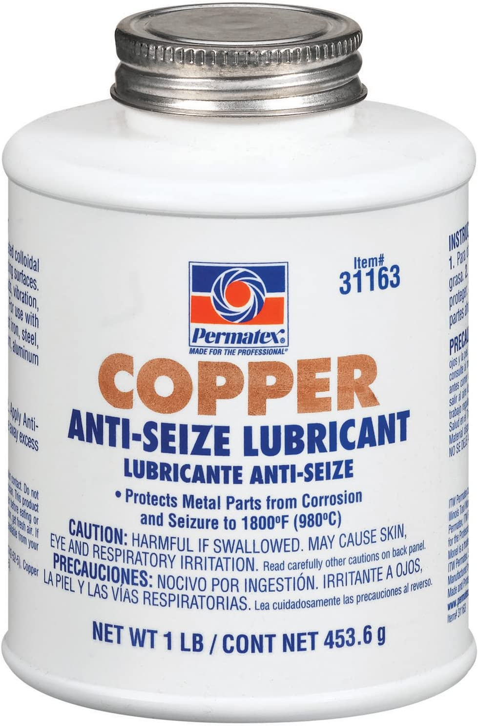 Permatex 31163 Copper Anti-Seize Lubricant, 1 lb