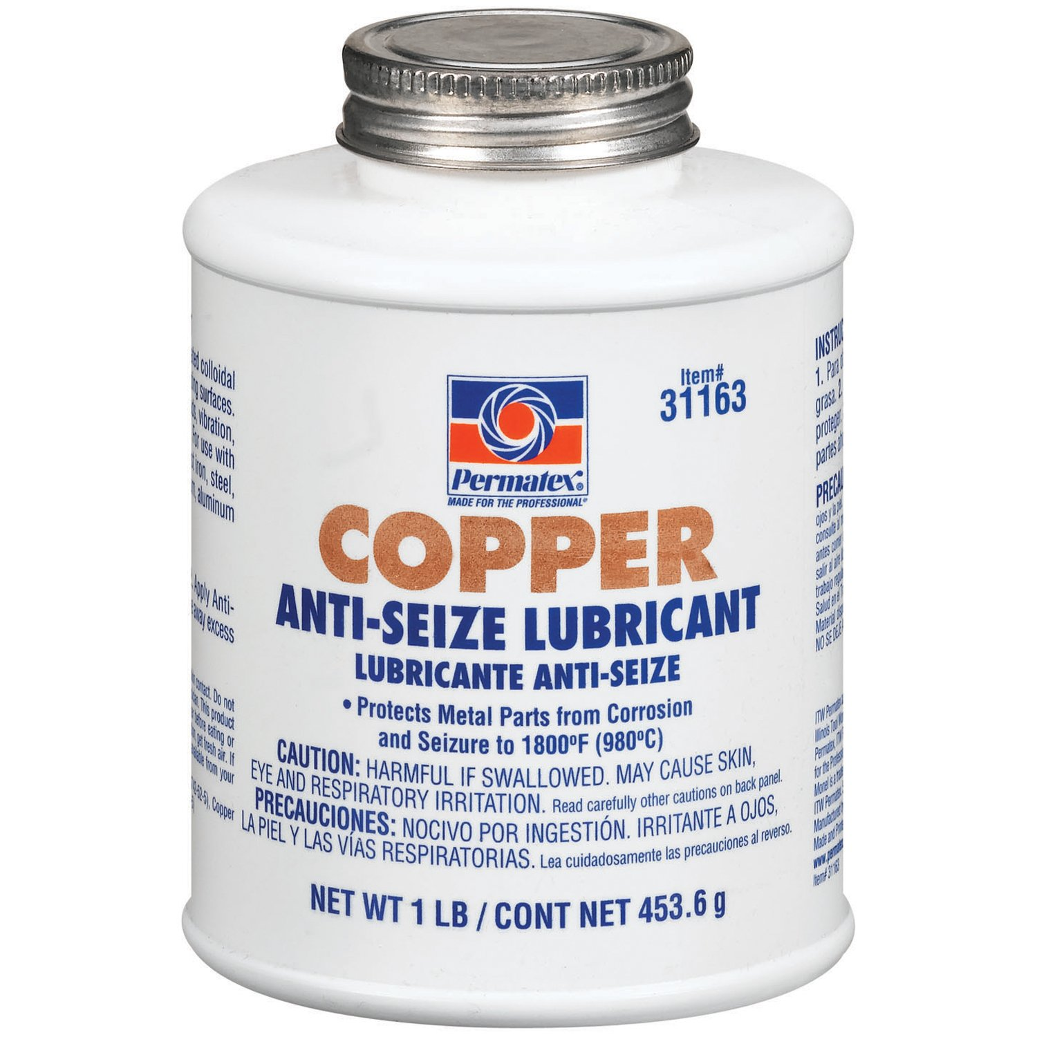Permatex 31163-12PK Copper Anti-Seize Lubricant, 1 lb (Pack of 12) by Permatex