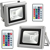 Neoteck 2 x Waterproof 10W RGB Color Changing LED Flood Light Outdoor Garden Pond Lamp