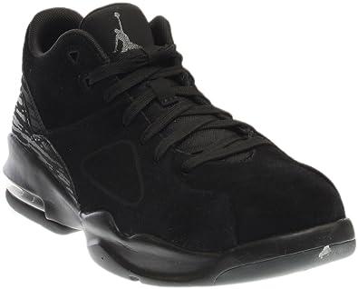 ac4a41c9d3e88 Jordan Nike Mens Franchise Black/Black/Dark Grey Basketball Shoe 9.5 Men US