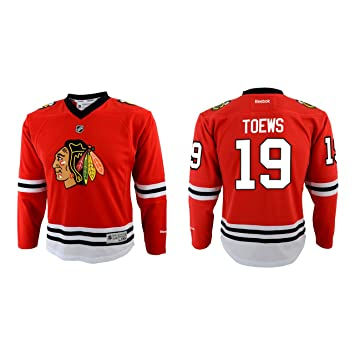 separation shoes 95365 7f525 Chicago Blackhawks Jonathan Towes Toddler Team Color Replica Ice Hockey  Jersey - Red,