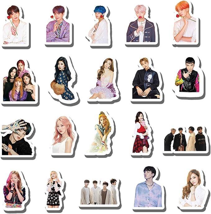 50Pcs Korean Stars Kpop BTS Decal Sticker Pack Set For Skateboard Luggage Laptop