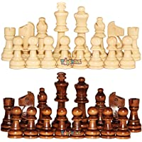 Toyshine Wooden Chess Pieces, Tournament Wood Chessmen Pieces Only, (7 cm King Figures )Chess Game Pawns Figurine Pieces…
