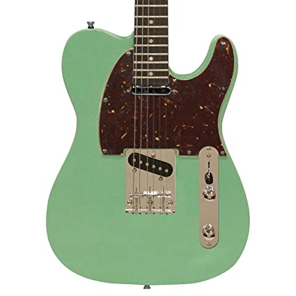 Amazoncom Sawtooth Et Series Electric Guitar Surf Green With