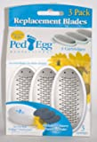 3 PedEgg Replacement Blades (3 Emery Pads included in package)