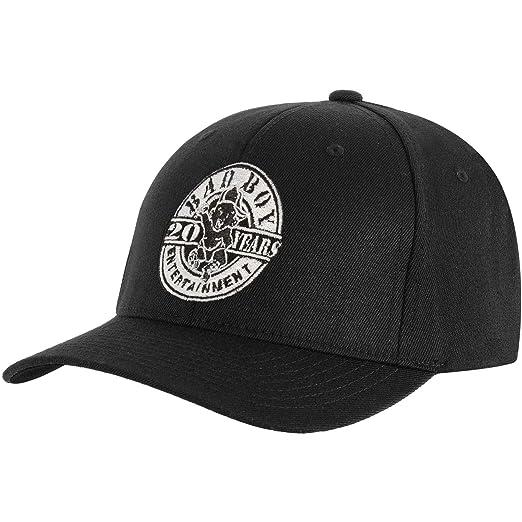 Amazon.com  Bad Boy Records Men s 20 Years Baseball Cap Adjustable ... 0b731239740