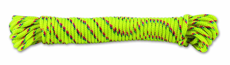 Chapuis FMO2J - Treccia in poliammide, 70 kg, diametro: 2 mm, lunghezza: 5 m, colore: giallo/rosa