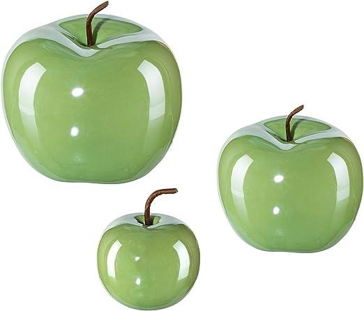 Iovivo Pearl Effect - Juego de 3 Manzanas de cerámica: Amazon.es: Juguetes y juegos