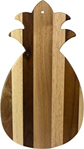 Totally Bamboo Rock & Branch Series Shiplap Pineapple Shaped Wood Serving and Cutting Board | Great for Wall Art
