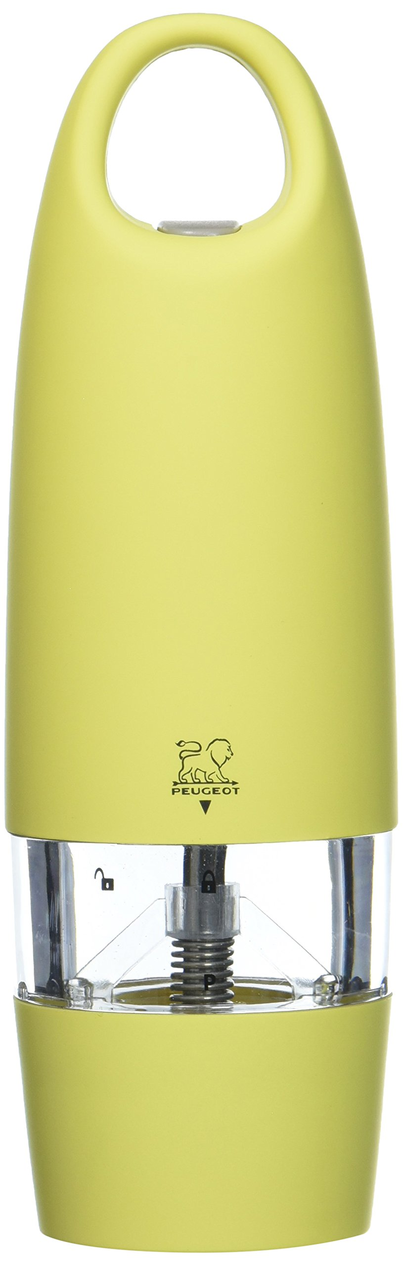Peugeot Zest Electric Soft Touch Pepper Mill, Yellow