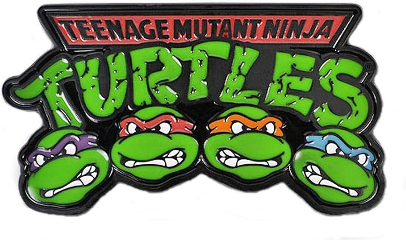 Amazon.com: Teenage Mutant Ninja Turtles Logo w/Faces Belt ...