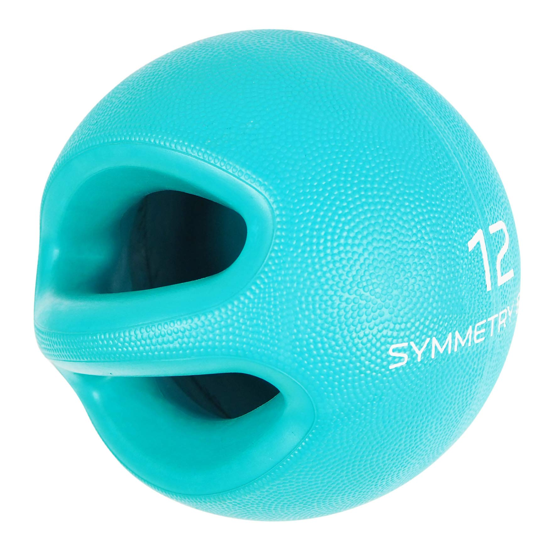 Smart Body Symmetry Ball - Patented Dual Handled Medicine Ball for Core Strength (12-Pound Teal)