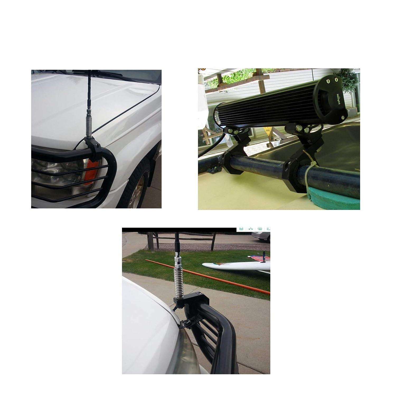 Feux de Conduite Feux de Brouillard Spot de Serrage 20-30 mm pour Voiture Moto Yiwa Lot de 2 Supports de Fixation universels pour Pare-buffles