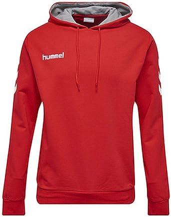 Hummel 033451, Sudadera con Capucha para Hombre, Rojo (True Red), xx-Large