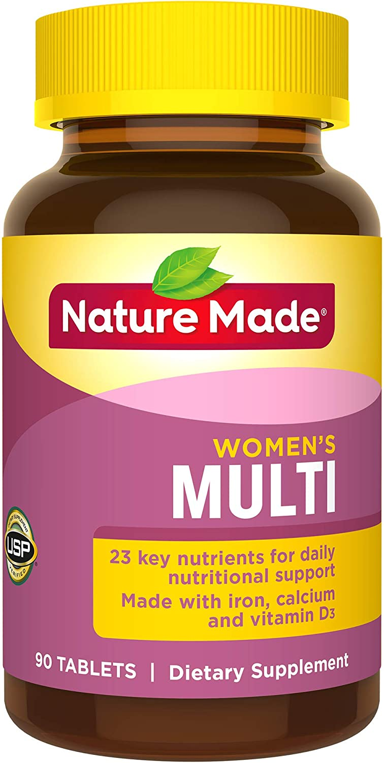 Nature Made Women s Multivitamin Tablets, 90 Count for Daily Nutritional Support Pack of 3