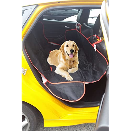 XtremeAuto® Dog Pet Hammock Style Rear Car Seat Protector Cover Waterproof - Includes XtremeAuto Sticker