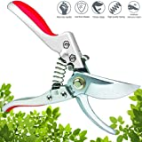 Professional Pruning Shears Silicone Handle Scissors Bypass Pruners Gardening Cutters Tools SK-5 Steel Blade Clippers Tree Trimmer Efficient Rope Snips